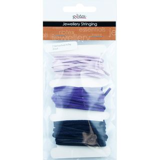 JF FAUX SUEDE THONGING 2.5MM PURPLE 6M