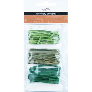 JF FAUX SUEDE THONGING 2.5MM GREEN 6M