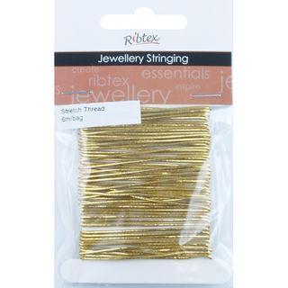 Jf Elastic Stretch Thread Gold 6M