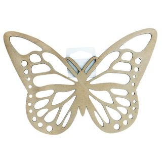 CRAFT WOOD BUTTERFLY 22CM RAW 1PC