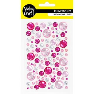 CRAFT R-STONE BUBBLE  PINK-SILVER 1 SH