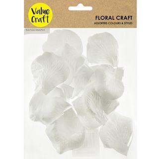 ROSE PETALS WHITE 145PCS