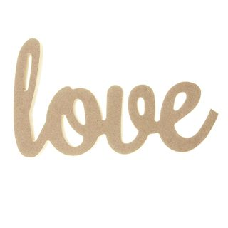 CRAFT WD 10MM LOVE SIGN 80X135MM NAT 1PC