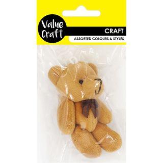 CRAFT TEDDY BEAR LIGHT BROWN 1PC