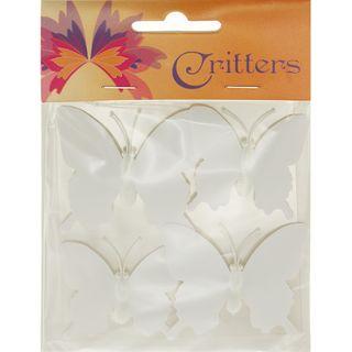 Butterfly DIY White Plastic 4Pcs