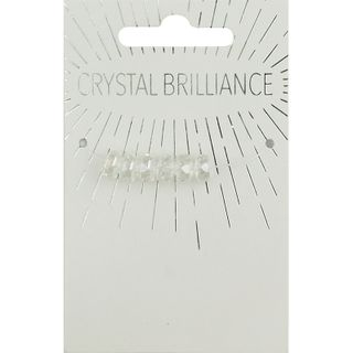 CHINESE CRYSTAL CROW FACET 6MM 6PC CRYAB
