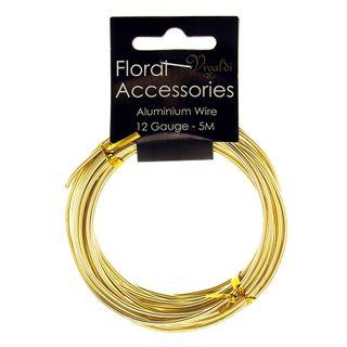 Floral Wire - Aluminium 12Gauge Gold 5m
