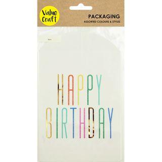 BAG PAPER 19X12CM-HAPPY BIRTHDAY PRT 6PC