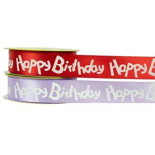 RIB 22MM HAPPY BIRTHDAY MAUVE-RED ASS 3M