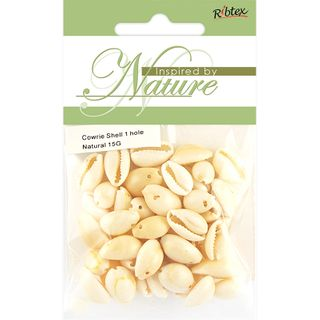 COWRIE SHEL 16MM ONE HOLE NATURE 15G