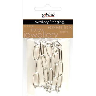 Chain Twisted Oval Link 15x8mm Silver