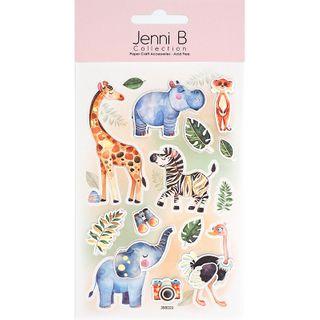 Jenni B Animal Safari With Colour 14Pcs