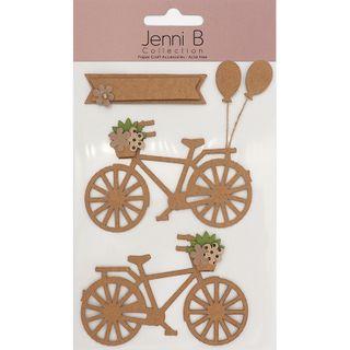 Jenni B Bike Floral Natural Kraft 3Pcs