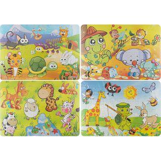 4 Puzzle Pack - Animals - 48Pcs