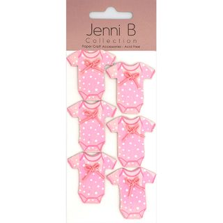 JB STICKERS BABY ONESIE PINK 6PCS