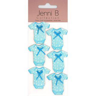 JB STICKERS BABY ONESIE BLUE 6PCS