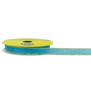 RIB NYLON TAFFETA 10MM METALLIC BLUE 5M