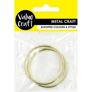 RINGS 50MM METAL GOLD 2PC