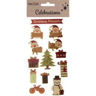 XMAS CORK STICKER CHRISTMAS PRESENT 1SH