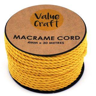 CORD MACRAME YELLOW 4MM 30M
