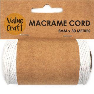 CORD MACRAME WHITE 2MM 30M