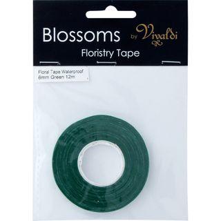 Floral Tape - Waterproof 6mm Green 12m