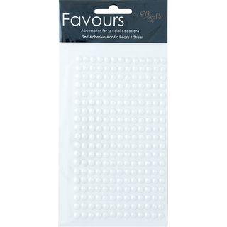FAV ADHESIVE PEARLS WHITE MED 245PCS