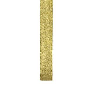 Ribbon 15mm Nylon Metallic Taffeta Gold
