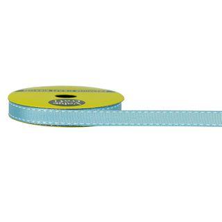 RIB 10MM STITCHED GROSGRAIN BABY BLUE 3M