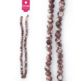 BEAD ST. BROWN MARBLE 60PCS