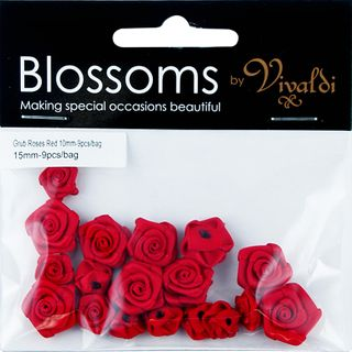 Flower Grub Rose Mixed Red 18Pcs