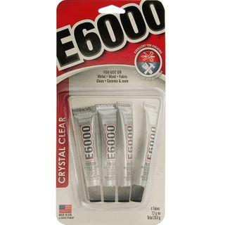 E6000 Crystal Clear Mini Glue Tubes 4Pcs