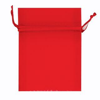 Organza Bag Mini 10 x 7.5cm - Red 10Pcs