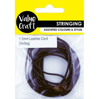 JF CORD GENUINE LEATHER 1.5MM BROWN 2M
