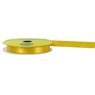 RIB POLY SATIN 10MM W-GLD EDGE GOLD 8M