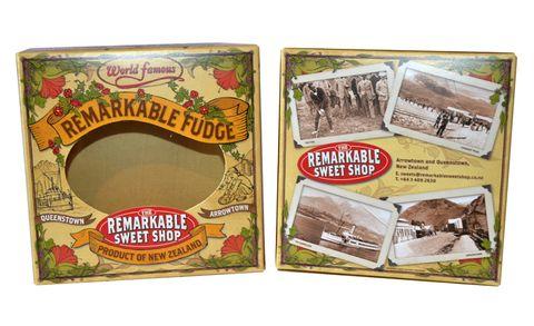Empty Fudge 4 Piece Gift Box