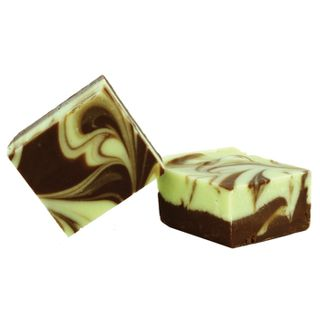 Chocolate Mint Swirl Fudge