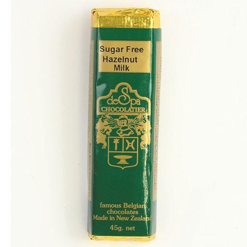De Spa Sugar Free Hazelnut Milk Choc Bar