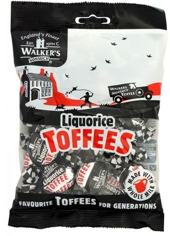 Walkers Bags - Liquorice Toffees 150g