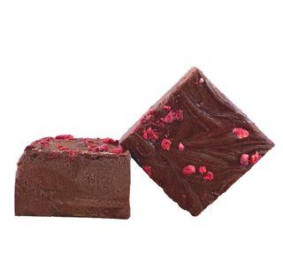 Dark Chocolate Raspberry Fudge