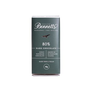 Bennetts 80% Dark Chocolate Bar 60g