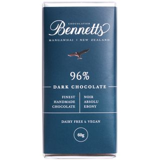 Bennetts 96% Dark Chocolate Bar 60g