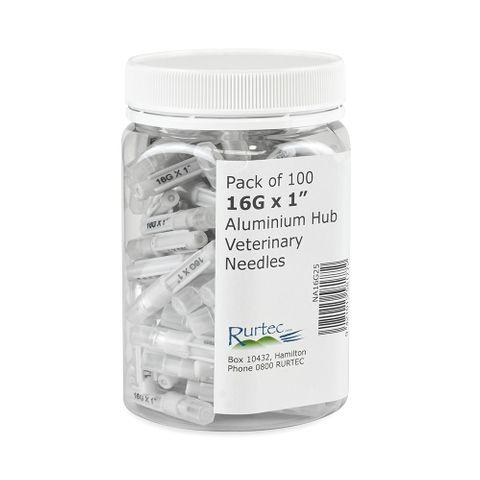 Needles Alum Hub 16G x 1 100 Pack