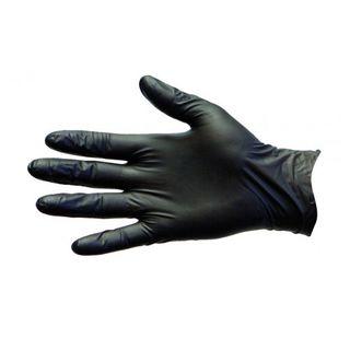 Gloves Black Nitrile Blax Med PF 41080