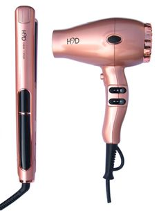 H2D Rose Gold Straightener/Dryer Pk