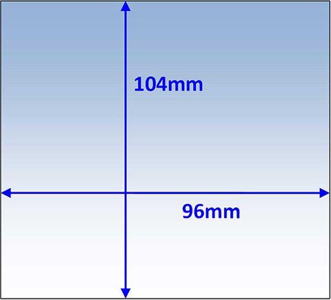 LENS INNER 104x96MM SUIT BOSS MEGA-VIEW PK5 WELDCLASS