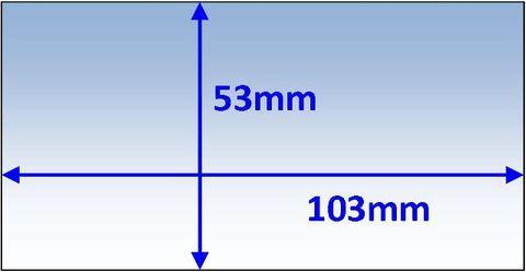 LENS INNER 103x53MM SUIT SPEEDGLAS 9000X PK5 WELDCLASS