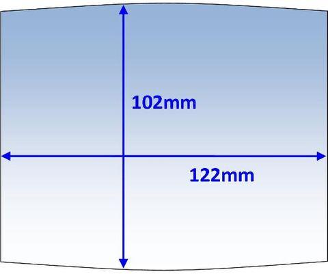 LENS OUTER 122x102MM SUIT MACH2/WIA BLUE PK10 WELDCLASS