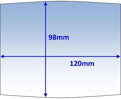 LENS OUTER 120x98MM SUIT BOSS WIDE-VIEW PK10 WELDCLASS