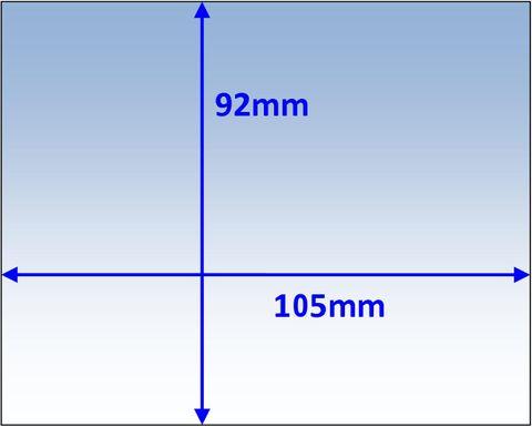 LENS INNER 105X92MM SUIT PROMAX 500 PK5 WELDCLASS